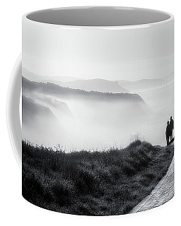 Morning Walk With Sea Mist Coffee Mug