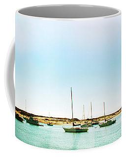 Moro Bay Inlet With Sailboats Mooring In Summer Coffee Mug