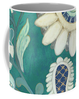 Coffee Mug featuring the painting Moroccan Paisley Peacock Blue 2 by Audrey Jeanne Roberts