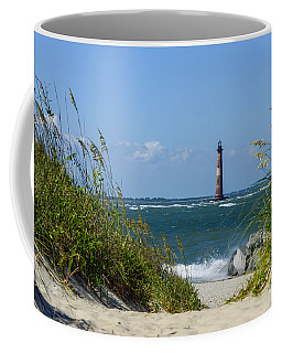 Morris Island Lighthouse Walkway Coffee Mug