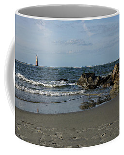 Coffee Mug featuring the photograph Morris Lighthouse by Sandy Keeton