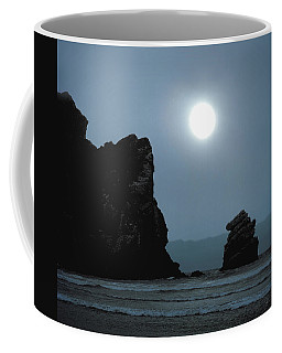 Morro Bay Sea Rocks And Sun Coffee Mug