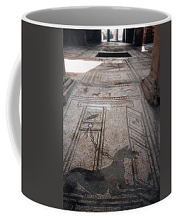 Coffee Mug featuring the photograph Mosaic In Pompeii by Marna Edwards Flavell