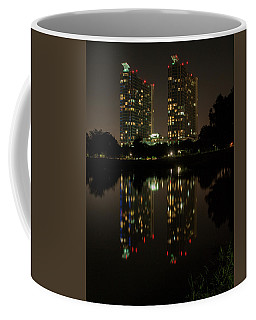 Mosaic Towers Night Coffee Mug