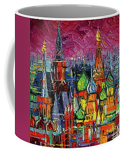 Moscow Red Square View Textural Impressionist Stylized Cityscape Coffee Mug