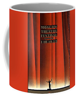 Moscow Theatre Festival 1935 - Russia - Retro Travel Poster - Vintage Poster Coffee Mug