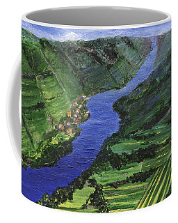Coffee Mug featuring the painting Moselle River by Jamie Frier