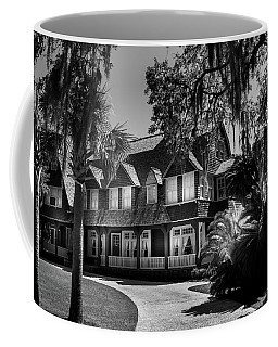 Moss Cottage In Black And White Coffee Mug