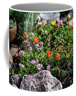 Moss Rose In The Rocks #1 Coffee Mug