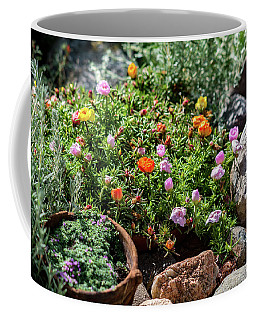 Moss Rose In The Rocks #2 Coffee Mug
