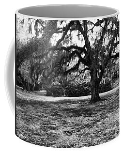 Moss Trees Black And White Coffee Mug