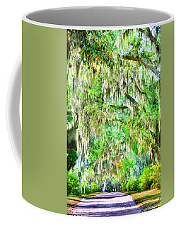 Coffee Mug featuring the photograph Mossy Oak Pathway H D R by Lisa Wooten