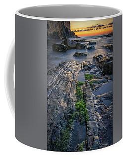 Mossy Rocks At Bald Head Cliff  Coffee Mug