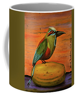 Mot Mot On A Papaya Coffee Mug