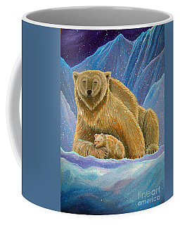 Mother And Baby Polar Bears Coffee Mug