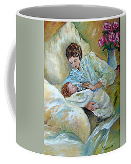 Mother And Child By May Villeneuve Coffee Mug by Susan Lafleur for May Villeneuve