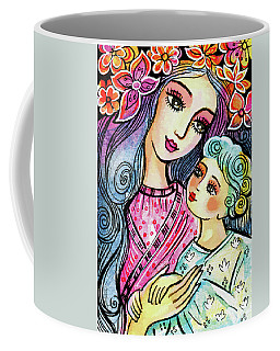 Mother And Child In Blue Coffee Mug