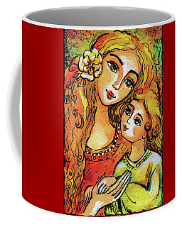 Mother And Child In Yellow Coffee Mug