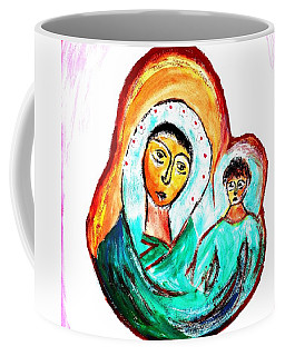 Coffee Mug featuring the painting Mother And Child by Ramona Matei