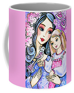 Mother And Daughter In Blue Coffee Mug