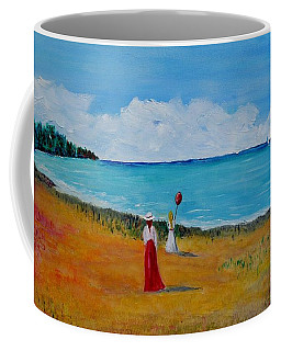 Coffee Mug featuring the painting Mother And Daughter by Marilyn  McNish