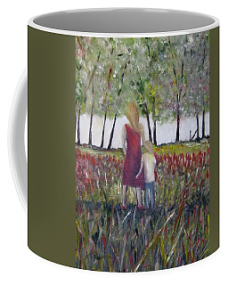 Coffee Mug featuring the painting Mother And Son by Marilyn  McNish