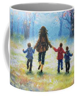 Mother And Three Sons  Coffee Mug