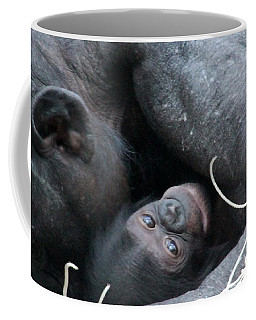 Mother Bonobo And Her Baby Coffee Mug by Laurel Talabere