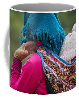 Coffee Mug featuring the photograph Mother, Sa Pa, 2014 by Hitendra SINKAR