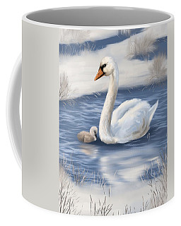Coffee Mug featuring the painting Mother Love by Veronica Minozzi