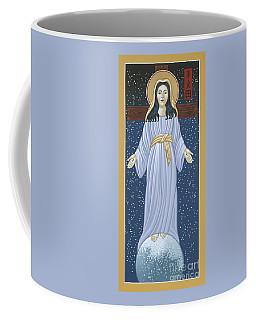 Coffee Mug featuring the painting Mother Of God Of Akita- Our Lady Of The Snows 115 by William Hart McNichols