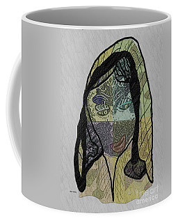 Coffee Mug featuring the mixed media Mother Teresa  Never Forget by Ann Calvo