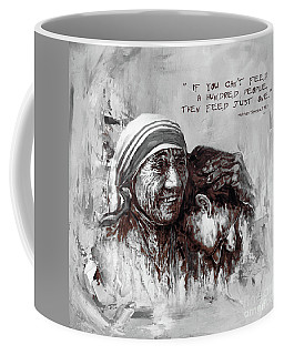 Coffee Mug featuring the painting Mother Teresa Of Calcutta Portrait  by Gull G