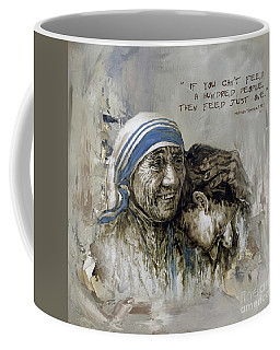 Mother Teresa Portrait  Coffee Mug