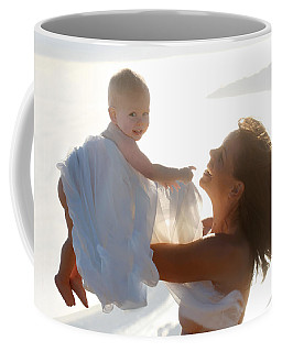 Mother With Baby In Pure Joy, Marin County, California Coffee Mug