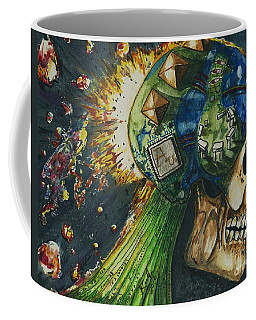 Coffee Mug featuring the painting Motherboard by Reed Novotny