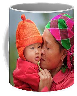 Coffee Mug featuring the photograph Motherly Love, Sa Pa, 2014 by Hitendra SINKAR
