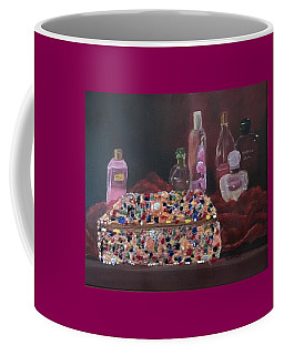 Coffee Mug featuring the painting Mother's Jewelry Box by Quwatha Valentine