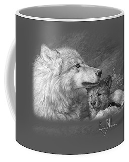 Mother's Love - Black And White Coffee Mug