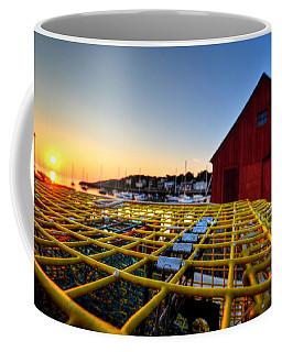 Motif 1 Lobster Trap Sunrise Coffee Mug