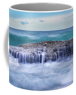 Coffee Mug featuring the photograph Motion In Blue by Dmytro Korol