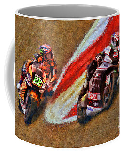 Moto2 Johann Zarco Leads Sam Lowes Coffee Mug