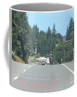 Coffee Mug featuring the photograph Motorcycle Club Aka Four by Marie Neder