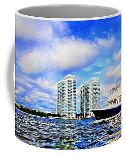 Motoring Past The Marina Grande Coffee Mug