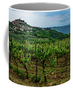 Motovun And Vineyards - Istrian Hill Town, Croatia Coffee Mug