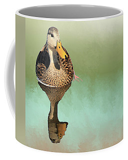 Mottled Duck Reflection Coffee Mug by Rosalie Scanlon