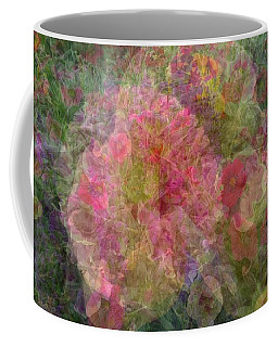 Mottled Pink Collage Pop Coffee Mug by Kathy Barney