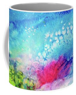 Coffee Mug featuring the painting Motu Tehurui by Ed Heaton