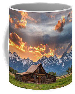 Moulton Barn Sunset Fire Coffee Mug