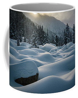 Coffee Mug featuring the photograph Mounds Of Snow In Little Cottonwood Canyon by James Udall